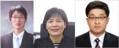제1저자인 유영석 아주대 연구원(왼쪽)과 조혜성 아주대 교수(가운데), 이종수 충남대 교수 - 아주대·충남대 제공